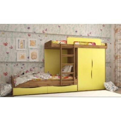 """Кровать 2-х ярусная """"Твинс"""" со шкафом"""
