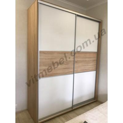 Шкаф-купе двухдверный глубиной 60 см (с трубой для одежды)