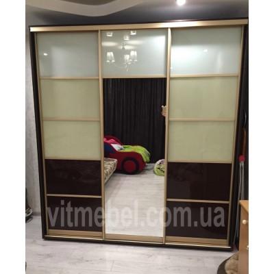 Шкаф-купе трехдверный глубиной 45 см (с тремпелем для одежды)